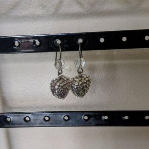 Tarina Tarantino dangle crystal heart earrings